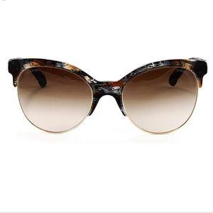 Chanel - Black and brown denim sunglasses